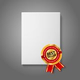 Realistic white blank hardcover book, front view Stock Photography