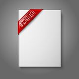 Realistic white blank hardcover book, front view Stock Photo