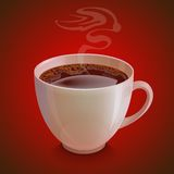 realistic white coffe cup with vapor on Royalty Free Stock Photos