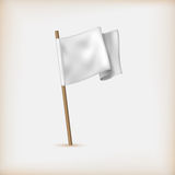 Realistic White Flag Icon. Surrender Concept Royalty Free Stock Image
