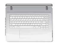 Realistic white laptop Stock Photos