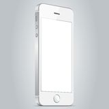 Realistic white mobile phone. Vector illustration EPS10 Stock Photos