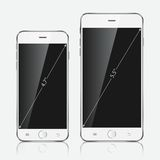 Realistic white mobile phone. Vector illustration EPS10 Royalty Free Stock Photography