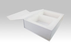 Realistic White Package Box. Royalty Free Stock Photos