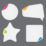 Realistic White Paper Stickers  on White Royalty Free Stock Photography