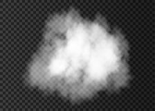 Realistic  white  smoke cloud. Steam explosion special effect.  Vector   fire fog or mist texture Royalty Free Stock Photos