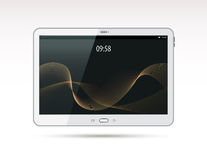 Realistic white tablet pc computer Stock Image