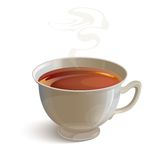 realistic white tea cup with vapor Stock Images
