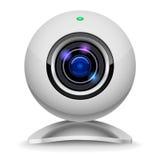 Realistic white webcam stock illustration