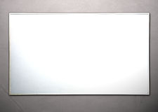Realistic whiteboard. On concret wall Stock Photo