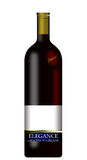 Realistic wine bottles Stock Images