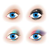 Realistic woman's eyes vector illustration Stock Photos