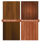 Realistic wooden background Royalty Free Stock Photos