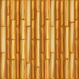 Realistic wooden bamboo background. Seamless pattern Vector Royalty Free Stock Photos