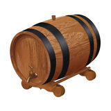 Realistic wooden barrel Royalty Free Stock Photos
