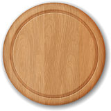 Realistic wooden cutting board. On white Royalty Free Stock Image
