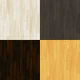 Realistic wooden floor parquet seamless patterns set, vector Stock Image