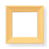 Realistic wooden frame. The form number one.  Illustration on white background Royalty Free Stock Images