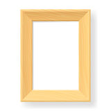Realistic wooden frame. The form number two.  Illustration on white background Royalty Free Stock Photos