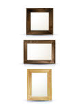 Realistic wooden frames Stock Image