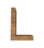 Realistic Wooden letter L isolated on white background. Wood letter, Alphabetic character Stock Images