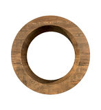 Realistic Wooden letter O isolated on white background. Wood letter, Alphabetic character Royalty Free Stock Photography