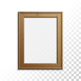 Realistic wooden photo frame. Stock Photo