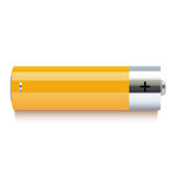 Realistic yellow battery icon Royalty Free Stock Photo