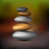 Realistic Zen stone tower. Vector EPS10 Royalty Free Stock Photography