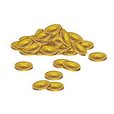 Realistick-Stapel von colden Münzen Lizenzfreie Stockfotos