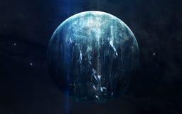 Realistisch beeld van Uranus, planeet van zonnestelsel Onderwijsbeeld Elementen van dit die beeld door NASA wordt geleverd royalty-vrije stock afbeeldingen