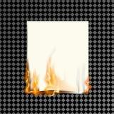 Realistisch brandend document op een transparante achtergrond vector illustratie