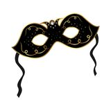 Realistisch Carnaval of theater geïsoleerdd masker royalty-vrije illustratie