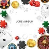 Realistisch Casino het Gokken Malplaatje stock illustratie