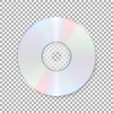 Realistisch CD-pictogram die compact disc op transparante achtergrond wordt geïsoleerd CD vectorillustratie stock illustratie