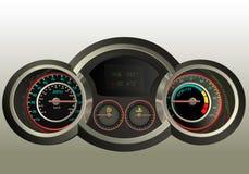 Realistisch 3D dashboard Stock Fotografie