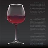 Realistisch glas rode wijn Royalty-vrije Stock Foto's