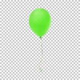 Realistisch groen ballonpictogram Royalty-vrije Stock Afbeelding