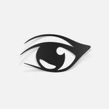 Realistisch ontwerpelement: oog stock illustratie