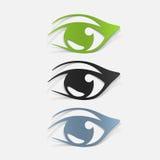 Realistisch ontwerpelement: oog royalty-vrije illustratie
