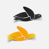 Realistisch ontwerpelement: overzees?? schildpad stock illustratie