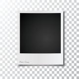 Realistisch retro fotokader stock afbeelding