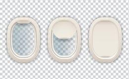Realistisch van het van de vliegtuigpatrijspoort, luchtvaart en toerisme beeld vector illustratie