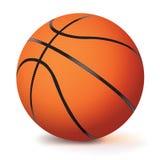 Realistisch Vectorbasketbal dat op Wit wordt geïsoleerd vector illustratie