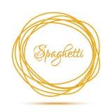 Realistisch Verdraaid de Cirkelkader van Spaghettideegwaren Stock Foto