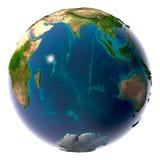 Realistische Aarde met natuurlijk Stock Afbeeldingen