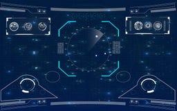 Realistische Abbildung Futuristische Benutzerschnittstelle Lizenzfreies Stockfoto