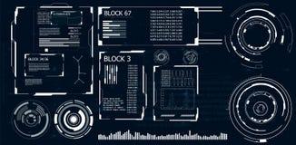 Realistische Abbildung Futuristische Benutzerschnittstelle Lizenzfreie Stockbilder