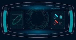 Realistische Abbildung Vektorabbildung für Ihr design Telefon mit Planetenerde und binärem Code Futuristische Benutzerschnittstel Lizenzfreies Stockbild