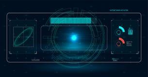 Realistische Abbildung Vektorabbildung für Ihr design Telefon mit Planetenerde und binärem Code Futuristische Benutzerschnittstel Lizenzfreie Stockbilder